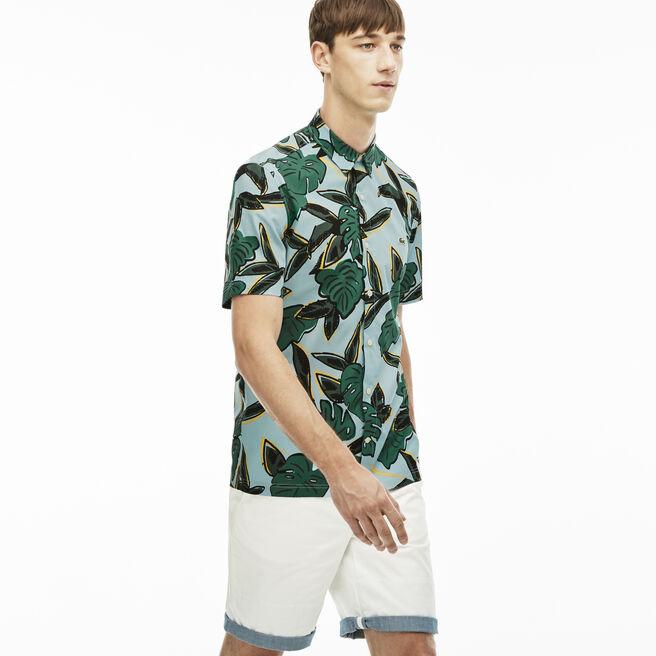 Men's L!VE Slim Fit Tropical Print Shirt