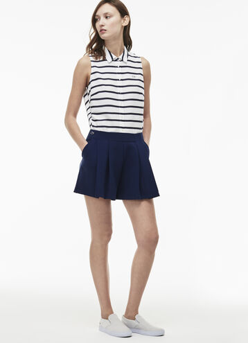 Women's L!VE Cotton Crepe Pleated Shorts