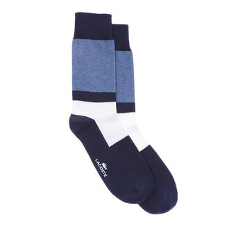 Men's Color Block Stretch Cotton Jersey Socks