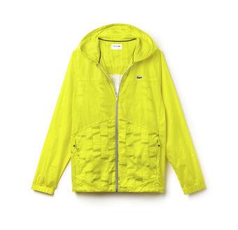 Men's SPORT Hooded Zippered Tennis Rain Jacket