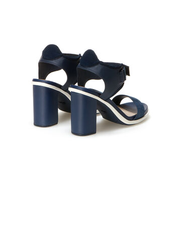 Women's Lonelle Leather Velcro High-Heeled Sandals
