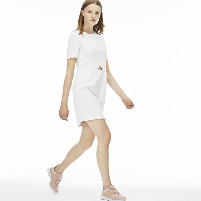 Women's L!VE Cutout Cotton Crepe Dress