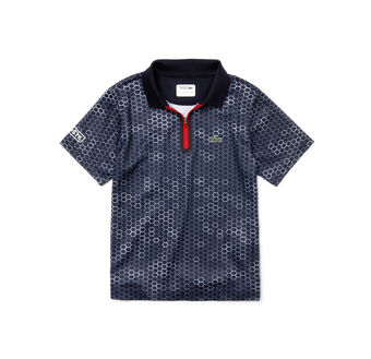 Kids' SPORT Print Piqué Tennis Polo Shirt