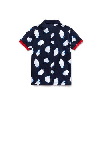 Kids' Classic Fit Urban Print Cotton Petit Piqué Polo Shirt
