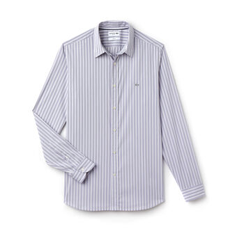 Men's City Striped Stretch Poplin Shirt