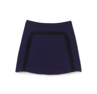 Women's Crepe Seamed A-Line Skirt