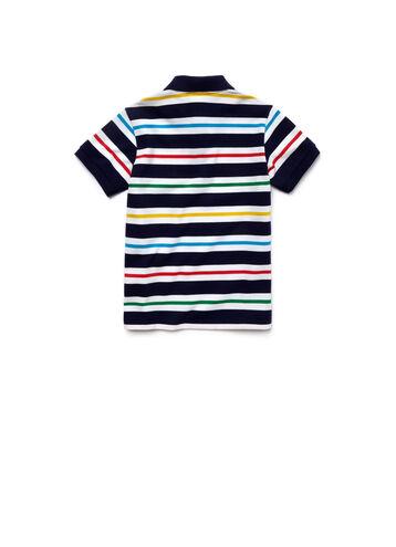 Kid's Striped Piqué Polo Shirt