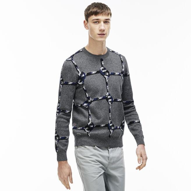 Men's L!VE Cotton Nautical Rope Design Sweater