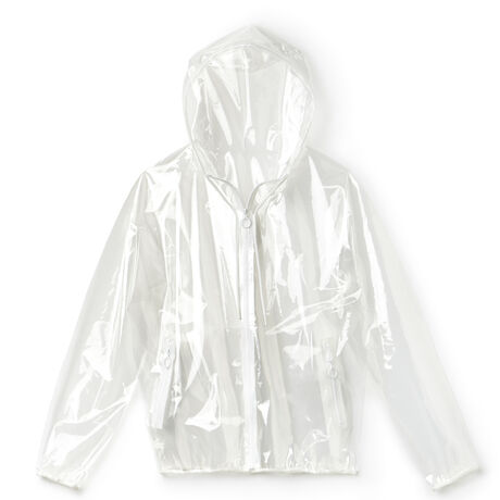 Women's Fashion Show Hooded Zippered Sheer Jacket