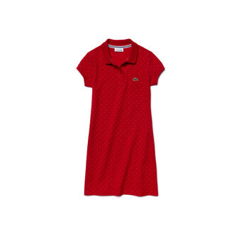 Kids' Polka Dot Fine Piqué Polo Dress