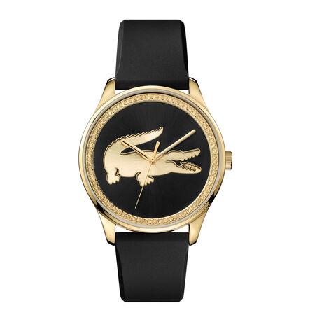 Women's Victoria Black Silicone Strap Watch