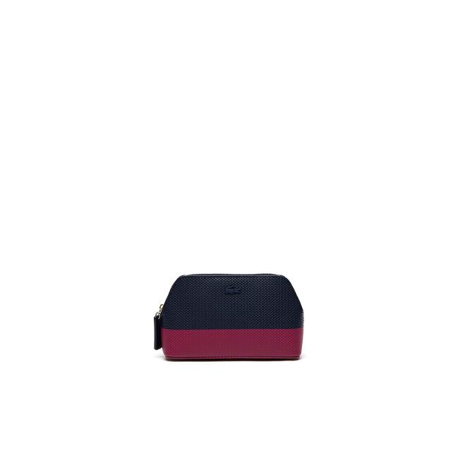 Women's Chantaco Bicolor Leather Zip Makeup Pouch
