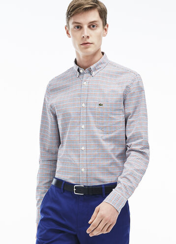 Men's Checked Oxford Woven Shirt