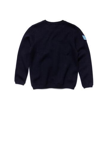 Kids' Crew Neck Embroidered Fleece Sweatshirt