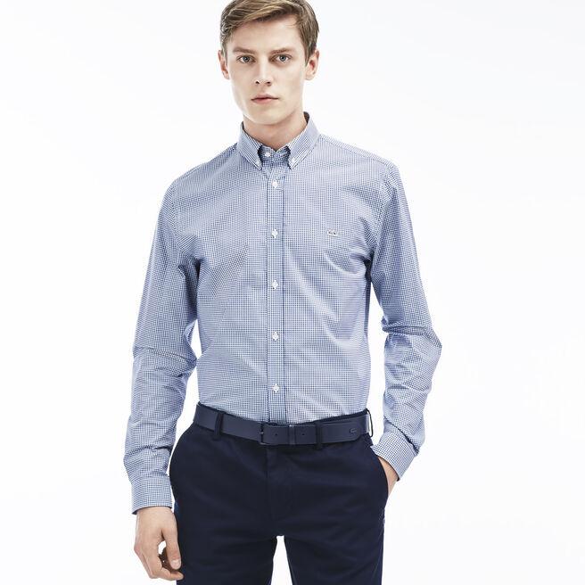Men's Gingham Poplin Woven Shirt