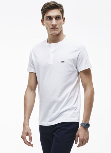 Men's Pima Cotton Henley Tee Shirt