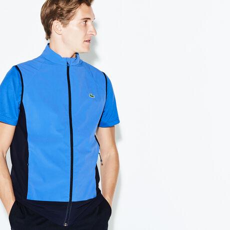 라코스테 스포츠 베스트 Lacoste Mens SPORT Technical Golf Quilted Vest,medway blue/navy blue