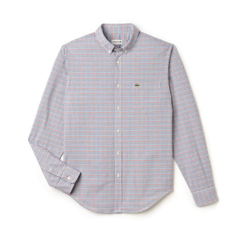 Men's Checked Oxford Woven Shirt