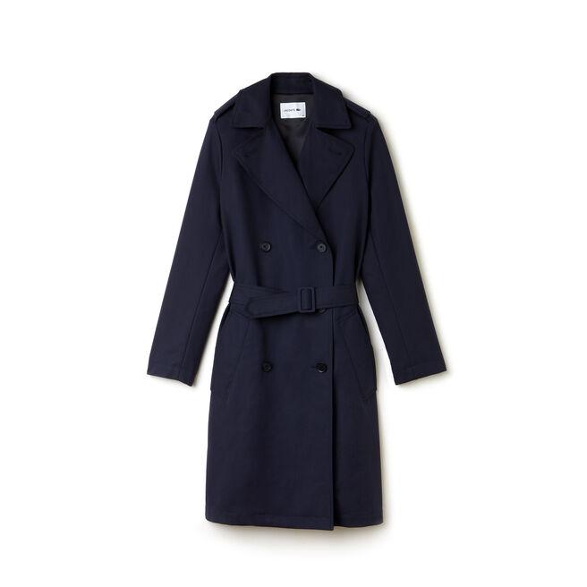 Women's Cotton Gabardine Trench Coat