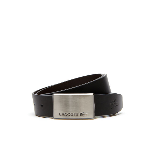 Men's Reversible Smooth Leather Belt And Two Buckles Gift Set