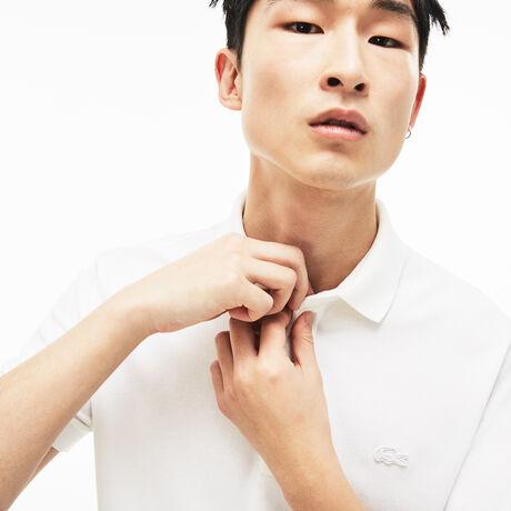 라코스테 파리 폴로 - 화이트 (레귤러 핏) 남성 반팔 피케 셔츠 Lacoste Mens Paris Edition Regular Fit Stretch Pique Polo,white