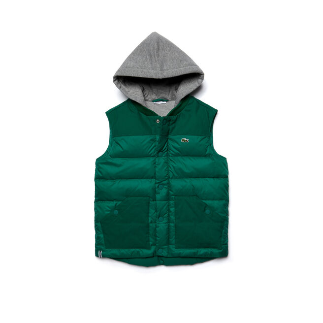 Kids' Bi-Material Quilted Vest