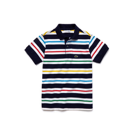 Kid's Striped Piqué Polo Shirt