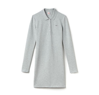 L!Ve Long Sleeve Pique Polo Dress