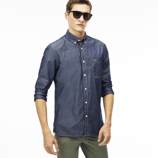 Men's Regular Fit Chambray Voile Shirt