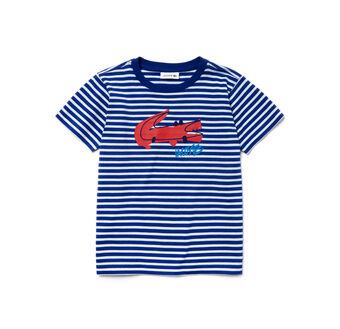 Kid's Crew Neck Jersey Print Design T-Shirt