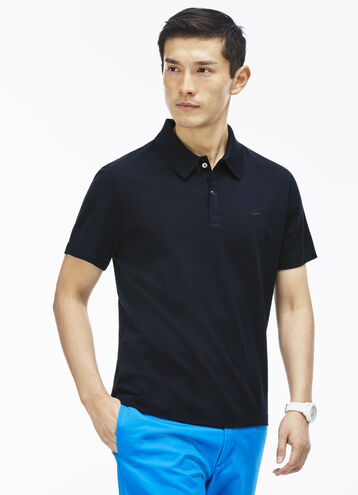 Men's Slim Fit Mercerized Piqué Polo Shirt