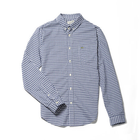 Men's Gingham Checked Poplin Shirt