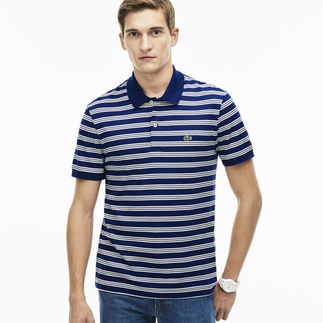 Men's Interlock Stripe Jersey Polo Shirt