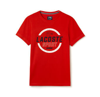 Men's SPORT Technical Jersey Circular Graphic Tennis T-Shirt