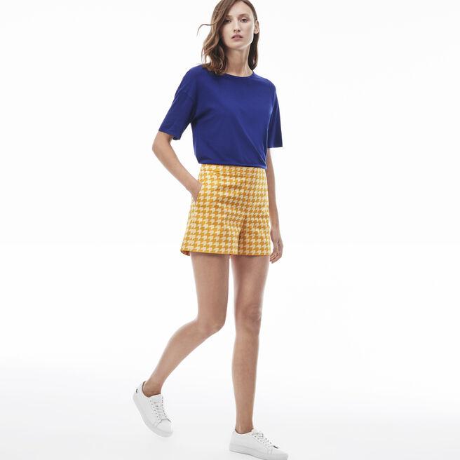 Women's Gingham Cotton Bermuda Shorts
