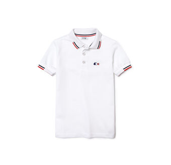 Kids' SPORT 'World Supporter' Novelty Piqué Polo Shirt