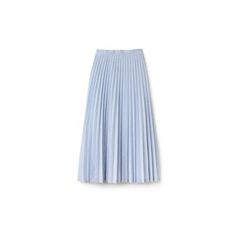 Women's Check Print Long Pleated Skirt