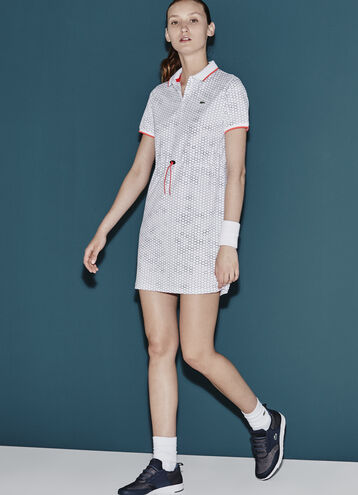 Women's SPORT Geometric Printed Technical Polo Dress