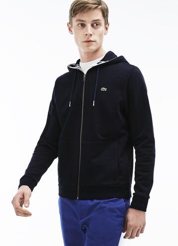 Men's Semi-Fancy Stripe Detail Fleece Hoodie