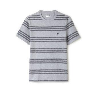 Men's Crew Neck Striped Piqué T-Shirt