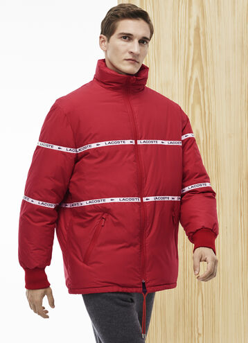 Men's Fashion Show Oversized Coat With Lacoste Bands