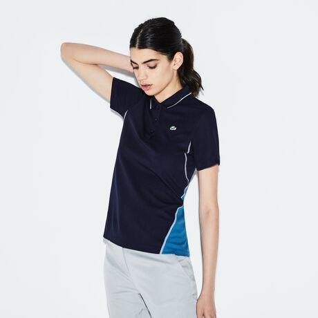 라코스테 스포츠 폴로 피케 티셔츠 Lacoste Womens SPORT Technical Knit Golf Polo,midnight/medway blue-whit