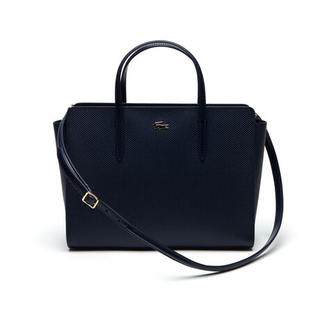 Women's Chantaco Gusseted Piqué Leather Tote Bag