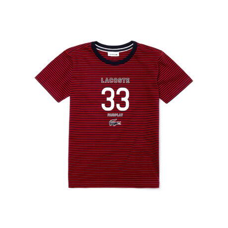 Kids' Branded Striped Cotton Jersey T-Shirt