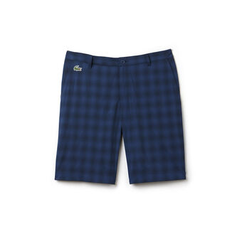 Men's Stretch Checked Golf Shorts