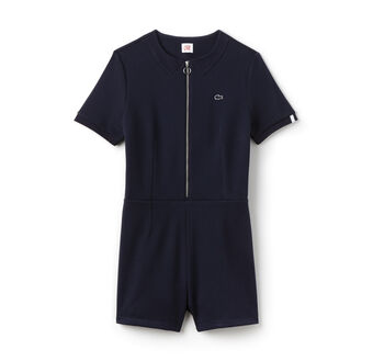 Women's L!VE Stretch Cotton Zippered Playsuit