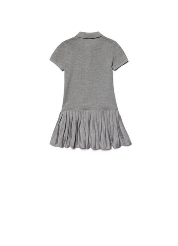 Girl's Pleated Polo Dress With Jersey And Piqué Skirt