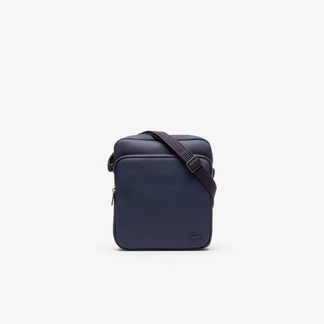 라코스테 메신저백 Lacoste Mens Classic Petit Pique Double Zip Bag,peacoat