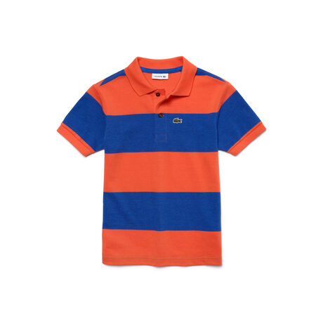 Kids 39 striped petit piqu polo shirt lacoste for Lacoste stripe pique polo shirt