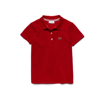 Kids' Pleated Back Polo Shirt
